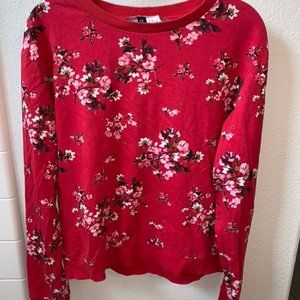 red floral sweater h&m